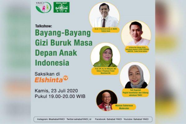 "Talkshow El-Shinta TV: PP Muslimat NU – YAICI ""Bayang-Bayang Gizi Buruk Masa Depan Anak Indonesia"""