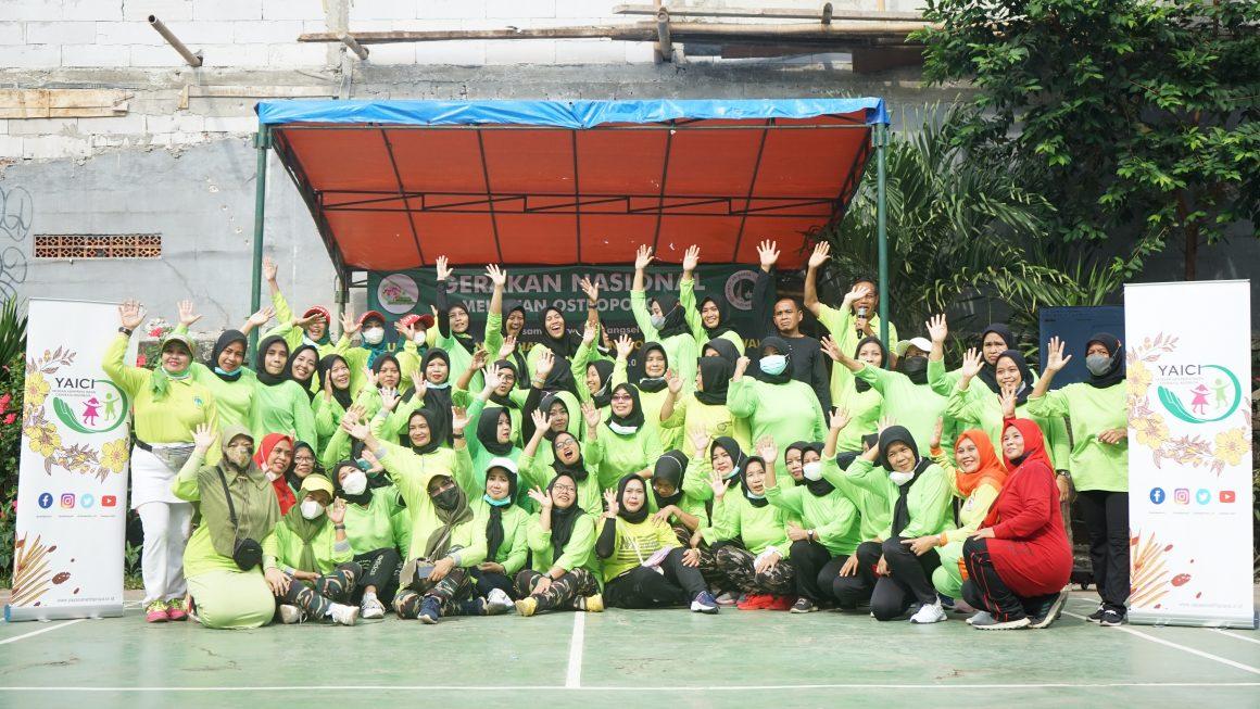 Yayasan Abhipraya Insan Cendekia Indonesia Mendukung Kegiatan Senam Osteoporosis di Tangsel